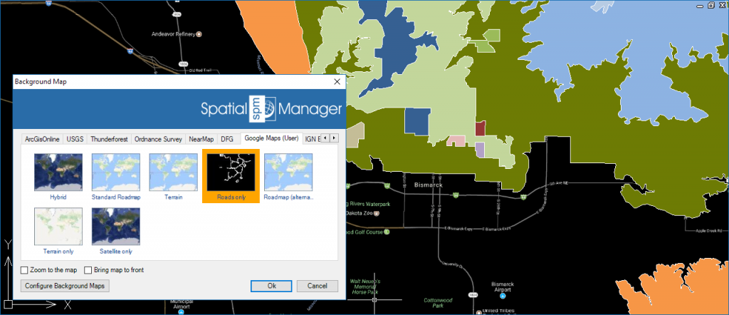 'Spatial Manager' Background Maps default order position (Background)