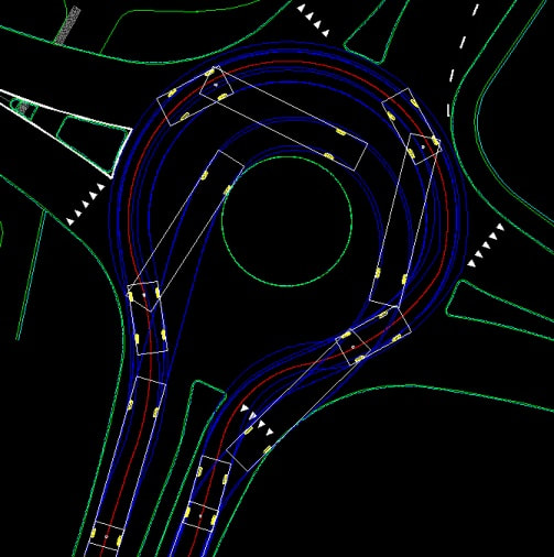 create vehicle turning simulation drawings