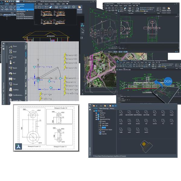 zwcad incluye multitud de herramientas para mejorar tu productividad y eficiencia al dibujar